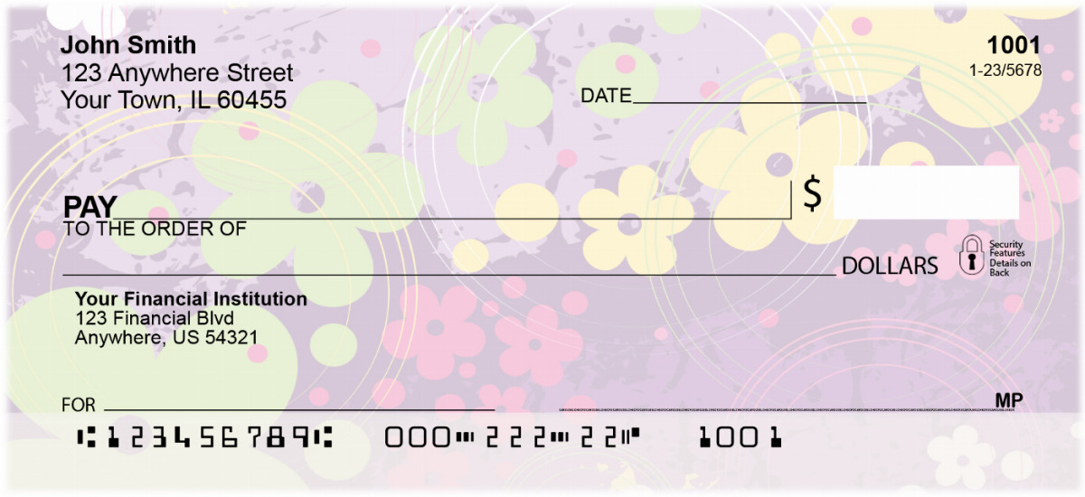 Aloha Flowers Checks
