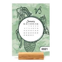 Sign of the Zodiac Easel Calendar
