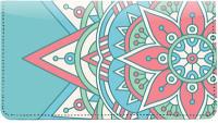 Mandala Leather Checkbook Cover