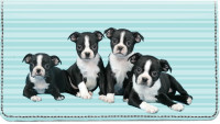 Boston Terrier Pups Keith Kimberlin Leather Cover
