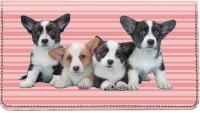 Corgi Pups Keith Kimberlin Leather Cover