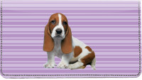 Basset Hound Pups Keith Kimberlin Leather Cover