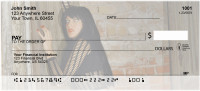 Female Vampire In Gothic Castle Personal Checks