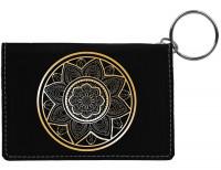 Mandala Engraved Leather Keychain Wallet
