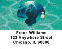 Manatee's Address Labels by David Dunleavy