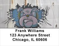 Bulldog Rippin N Roarin 1 Address Labels