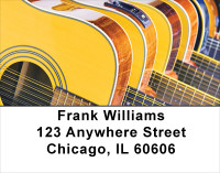 For Guitar Lovers Address Labels | LBMUS-08
