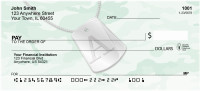 Dog Tag Monogram A Personal Checks | MONO-04A