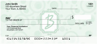 Bubbly Monogram B Personal Checks | MONO-05B