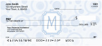 Bubbly Monogram M Personal Checks | MONO-05M