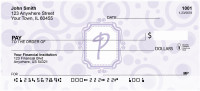Bubbly Monogram P Personal Checks | MONO-05P