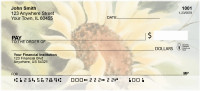 Watercolor Sunflowers Personal Checks | NAT-30