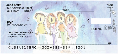 Joyful Jingles Personal Checks by Amy S. Petrik | AMY-11