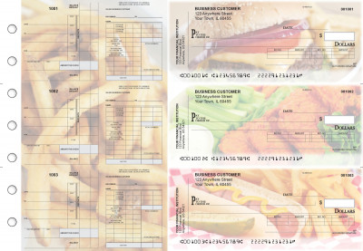 American Cuisine Payroll Invoice Business Checks | BU3-7CDS01-PIN