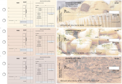 Bakery Payroll Invoice Business Checks | BU3-7CDS02-PIN