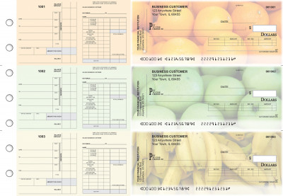 Fruit Payroll Invoice Business Checks | BU3-7CDS03-PIN