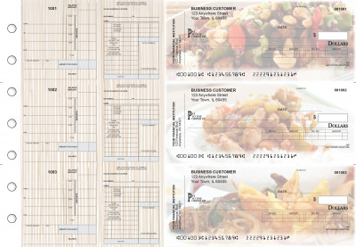 Chinese Cuisine Payroll Invoice Business Checks | BU3-7CDS04-PIN