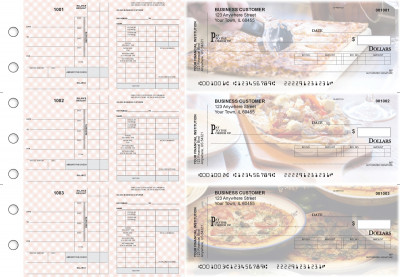 Pizza Payroll Invoice Business Checks | BU3-7CDS08-PIN