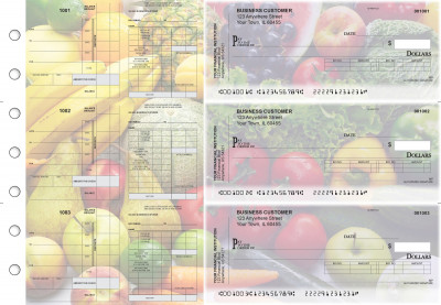 Fresh Produce Payroll Invoice Business Checks | BU3-7CDS09-PIN