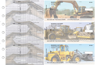 Construction Payroll Invoice Business Checks | BU3-7CDS10-PIN