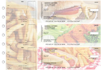 American Cuisine Itemized Counter Signature Business Checks | BU3-CDS01-ICS