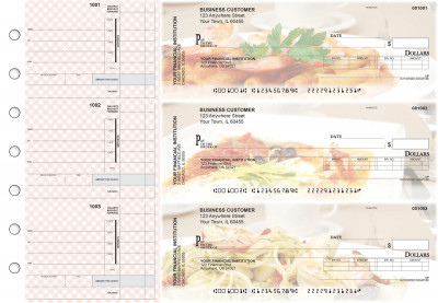 Italian Cuisine Invoice Business Checks | BU3-CDS05-INV
