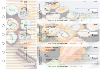 Japanese Cuisine Invoice Business Checks | BU3-CDS06-INV