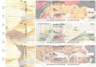 Mexican Cuisine Itemized Invoice Business Checks | BU3-CDS07-TNV