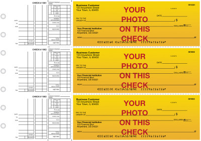 Custom Photo Multi Purpose Business Checks | BU3-CUS01-DEP