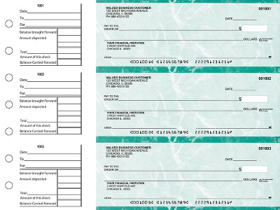 Teal Marble General Business Checks | BU3-EMA01-GEN