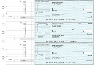 Teal Safety Itemized Invoice Business Checks | BU3-ESF01-TNV