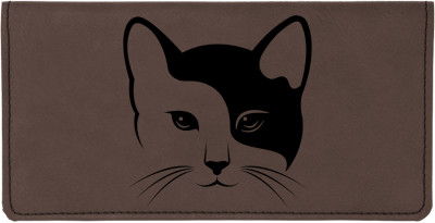 Yin Yang Kitty Engraved Leather Cover | CLE-00004