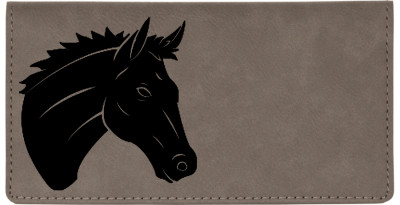 Majestic Horse Engraved Leather Cover | CLE-00012