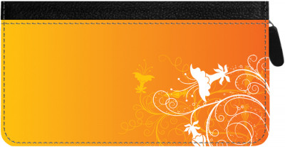 Creeping from the Corner Zippered Checkbook Cover | CLZ-FLO76