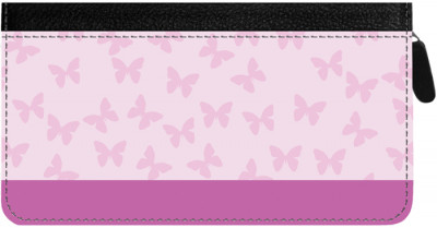 Butterfly Zippered Checkbook Cover | CLZ-GEO04