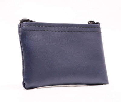 "Navy Blue Zipper Wallet, 3"" X 4.5"" 