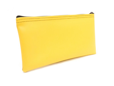 "Yellow Zipper Bank Bag, 5.5"" X 10.5"" 