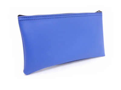 "Blue Zipper Bank Bag, 5.5"" X 10.5"" 