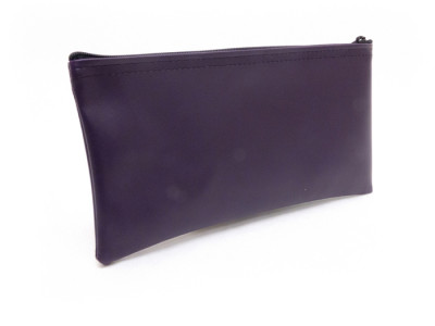 "Purple Zipper Bank Bag, 5.5"" X 10.5"" 