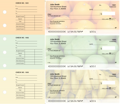 Fruit Designer Deskset Checks | DS-CDS05