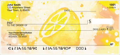 Watercolor Fruit Personal Checks | FOD-77
