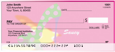 Hot Pink And Saucy Personal Checks | GIR-10