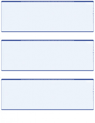 Blue Safety Blank 3 Per Page Laser Checks | L3C-BLA-BL