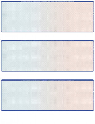 Blue Red Blank 3 Per Page Laser Checks | L3C-BLA-BR