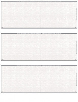 Grey Safety Blank 3 Per Page Laser Checks | L3C-BLA-ES
