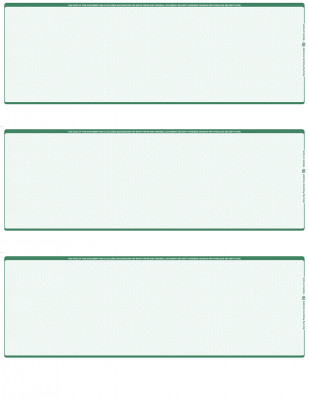 Green Safety Blank 3 Per Page Laser Checks | L3C-BLA-GS