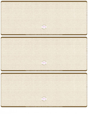 Tan Safety Blank High Security 3 Per Page Laser Checks | L3CHS-BLA-OS