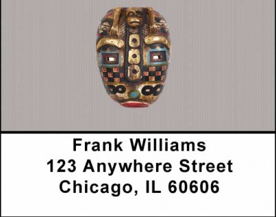 African Masks Address Labels | LBAFR-05