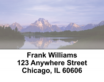 Mountain Views Address Labels | LBEVC-17