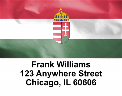 Hungarian Flag Address Labels | LBFLA-01